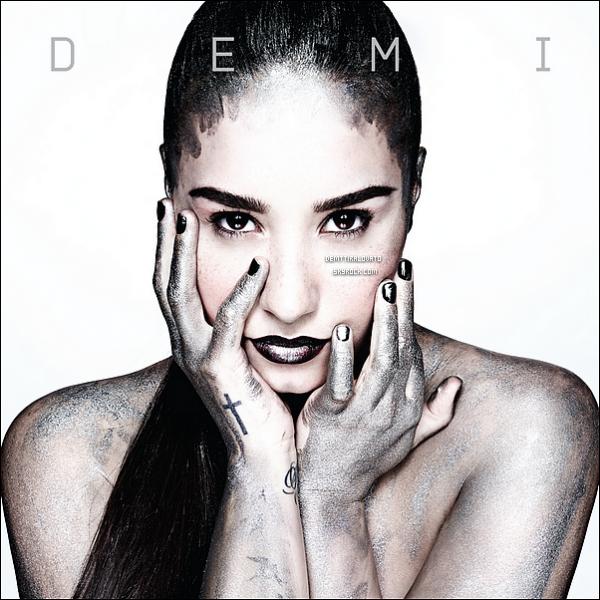 .     Voici la phochette du nouvel album de Demi + Official Trailer de l'album.   Le titre de sont 4ème album serra DEMI. Cette photo pourais être l'officiel car Demi à poster un bout de cette photo sur sont Twitter ici .                                                     .