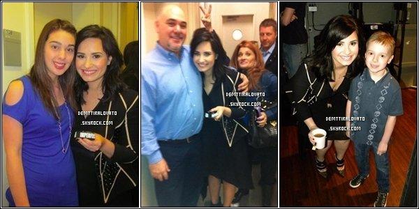.    11 Avril Demi.L à continuée la promo pour sont nouvel album en allent dans l'émission Live with Kelly & Michael, à NY.                                                           .