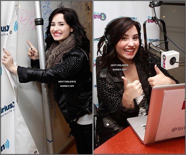 .   12 Avril Miss Lovato est aller à la radio SiriusXM H1 toujours à NYC, pour continué la promo de sont nouvel album.                                                            .
