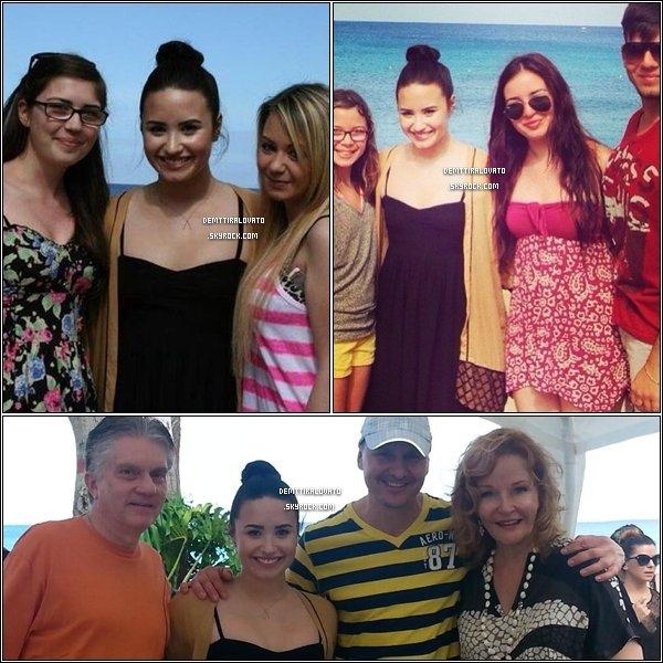 .        13 Avril Demi et sont gar du cort était à l'aéroport de la Barbade dans les Caraïbes + 14 Avril Dans sont hotel elle à poser avec des fans et elle aussi rencontrée Nikki Willams, la composotrice de Heart Attack.                                                       .