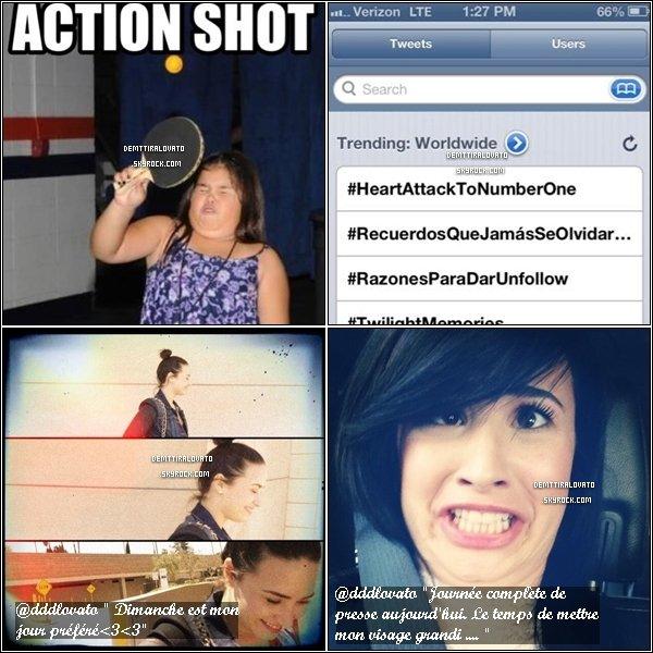.     18 Avril Demi.Lovato (fatiguée) est de retour, elle à attérie à LAX à Los Angeles + Twitter     Après sont séjour d'une semaine dans les Caraïbes.Des fans très histériques on peu poser avec elle.                                                    .