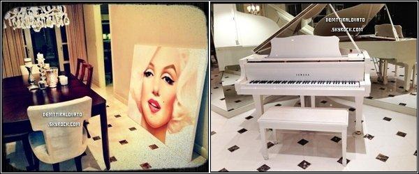 .       Demi.L à poster plusieurs photos sur sont Twitter.   On y voir quelques pièces de sont nouvel appartement situé en Californie à Los Angeles. Miss Lovato y vivrais depuis sont retour des Caraïbes.                                                       .