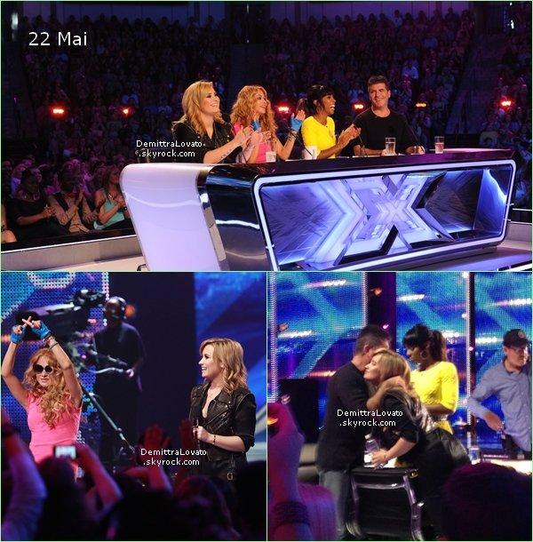 21 & 22 Mai Demi.Lovato et Kelendria Rowland, Paulina Rubio et Simon Cowell on comancer les auditions pour «X-Factor» à Charleston en Caroline du Sud.