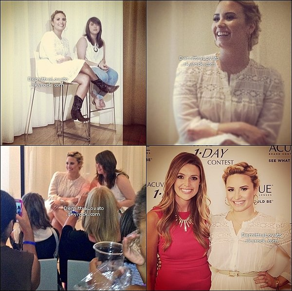 9 Juillet En temps qu'égérie de « 1-Day Acuvue » elle était à la conférence de press. ( Los Angeles )