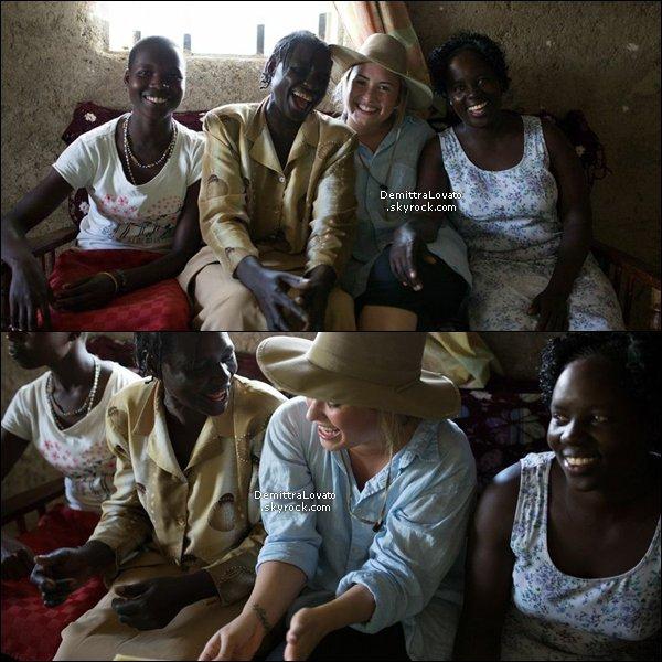 Aout pour ces 21 ans, Demi à fait du bénévola, pour l'association Free The Children au Kenya.