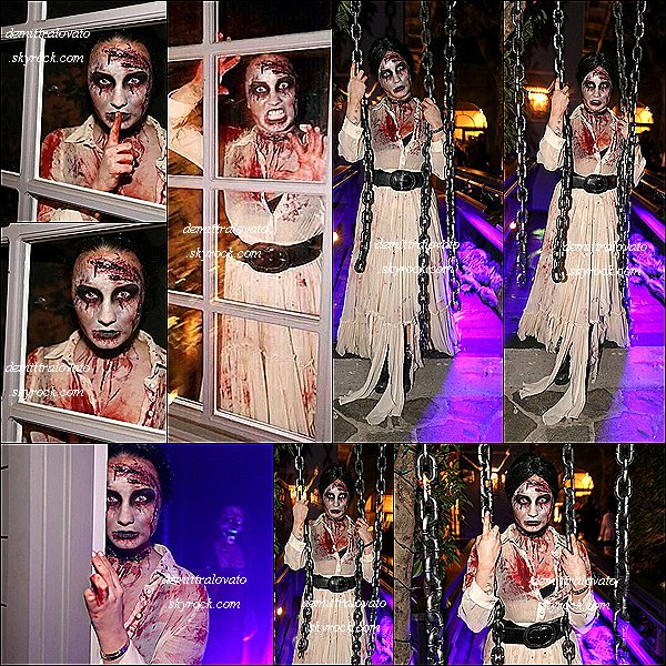 "31 Octobre En mode zombie Demi à organisée sa ""Halloween party"" dans West Hollywood en Californie."
