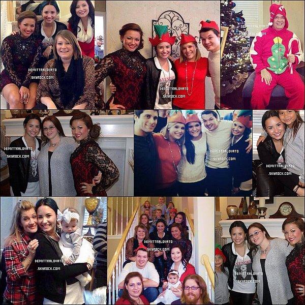 25 Décembre Les photos de Noel de Demi avec sa famille et ses amies à Dallas au Texas. Wilmer était présent pour passer noel avec sa chérie.