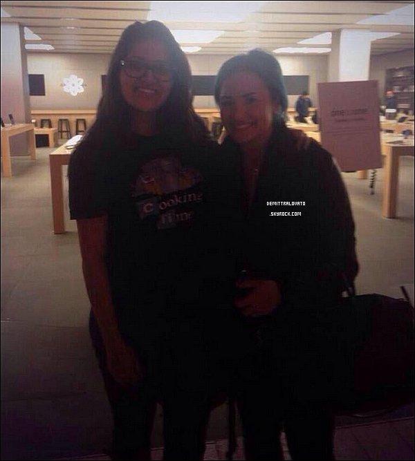 5 Janvier 2014 Demi à était vue par une fan dans un magasin Appel Store. Ce même jour, elle serais aller dans le magasin  Victoria Secret avec Wilmer.