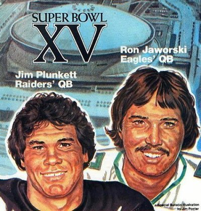 finale du super bowl Los Angeles Raiders vs Philadelphia Eagles 1981