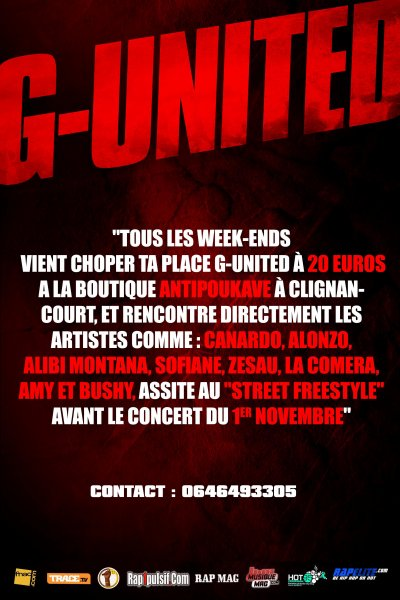 SEANCE DEDICACE ET STREET FREESTYLE G-UNITED TOUS LES WEEKENDS!!!!!!!
