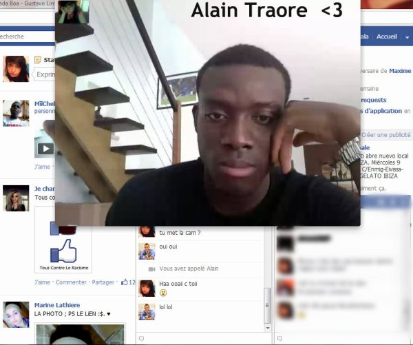 UN SUPER MOMENT A LA WEBCAM AVEC ALAIN TRAORE <3