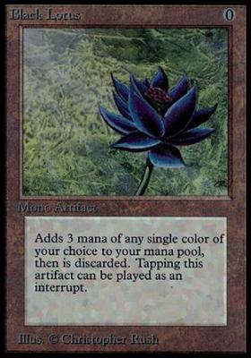la plus rare des cartes magic the black lotus ou le lotus noir issanissa. Black Bedroom Furniture Sets. Home Design Ideas