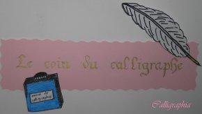 Le coin du calligraphe