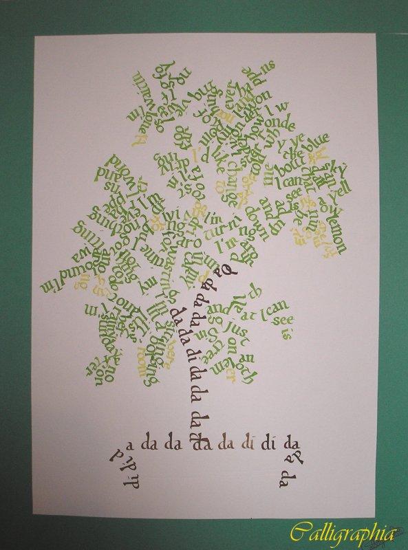 Calligrammes arbre