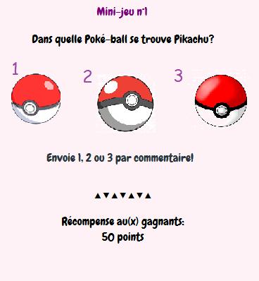 Petit jeu pokémon