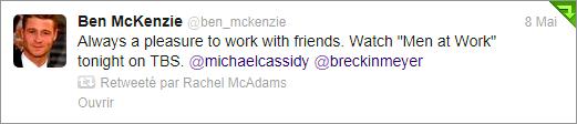 Ben McKenzie et l'actrice Bethany Joy Lenz ont joué dans l'épisode 02x06 de la série « Men At Work »
