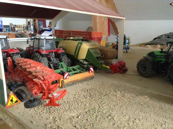Préparation pour les semis de blé au gaec