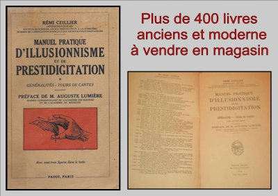 "Catalogue magique  "" Livre ancien - Ceillier manuel pratique d'illusionisme et de prestidigitation T1 Tours de Cartes """