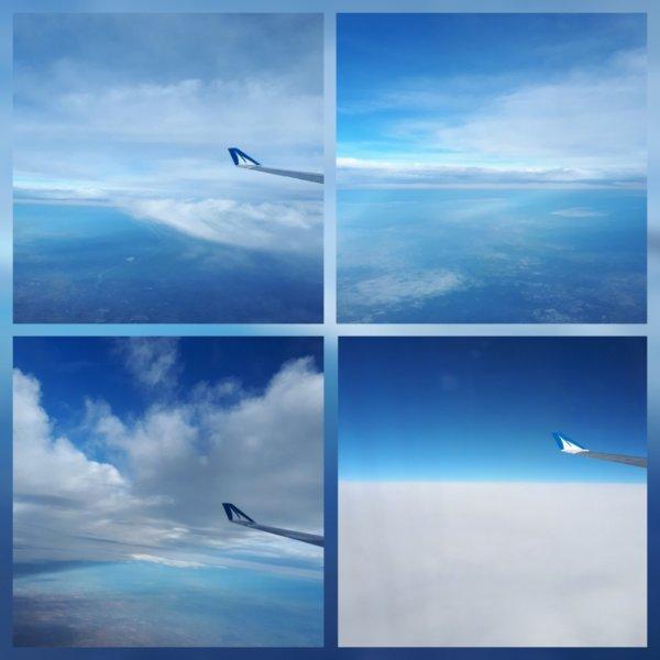 vol au dessus et avec les nuages