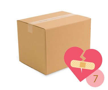Jour 7 - Mets ses affaires dans une boîte.