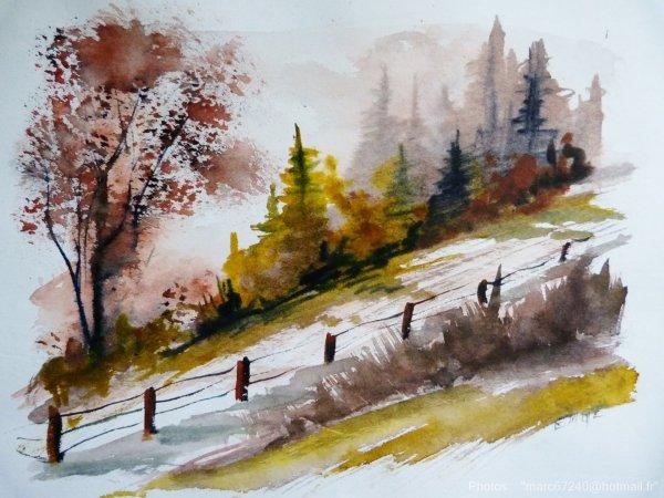 aquarelles du jour- peintent au cours de l'exposition Reg'arts