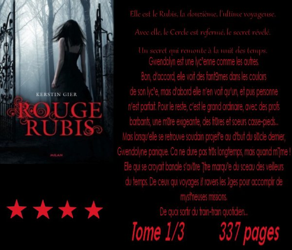 Rouge Rubis, tome 1