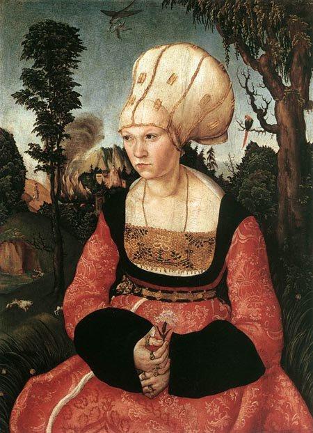 ...portrait d'Anna Cuspinian....
