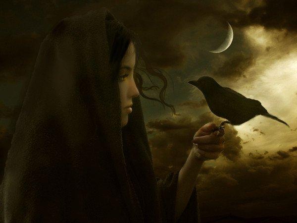 ...La dame corbeau...