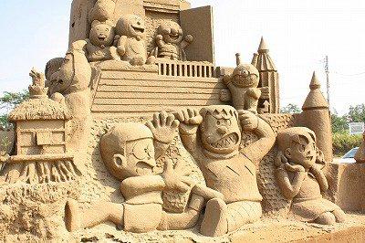 Château de sable - Doraemon
