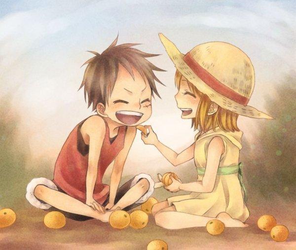 Luffy et Nami - petit