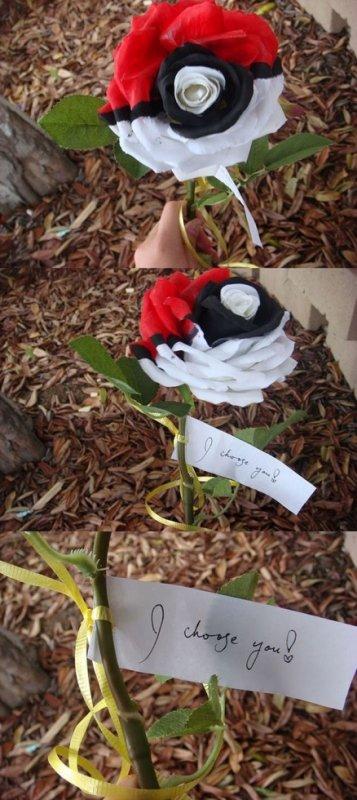 Pokeball en fleur