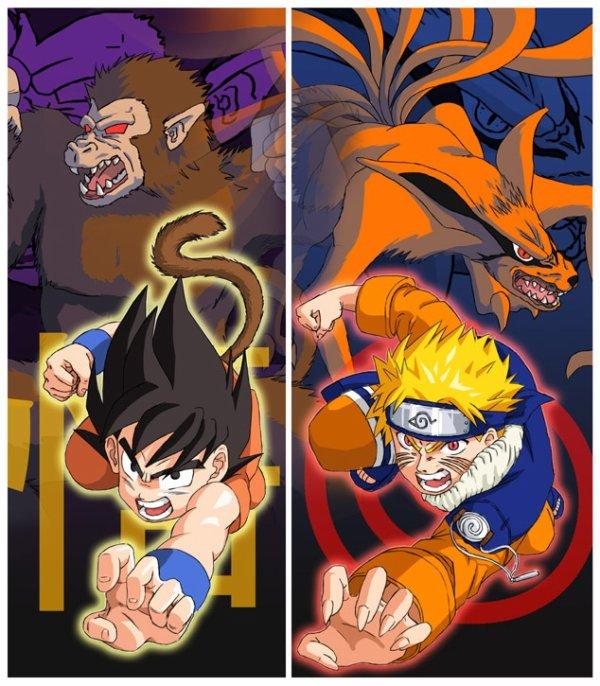 Sangoku et Naruto