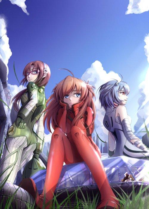 Evangelion - Mari, Asuka, & Rei