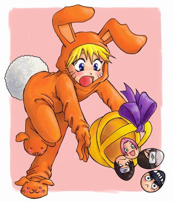 Naruto déguisé en lapin