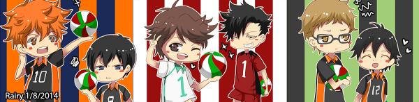 Haikyu!! l'équipe de volley-ball (Chibi)