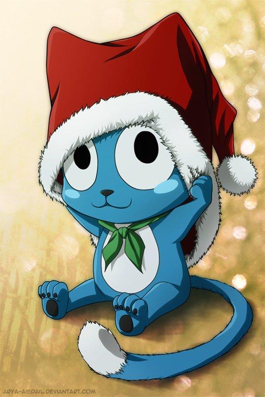 22 ◘ Fairy Tail | Happy te souhaite de bonne fête de noël