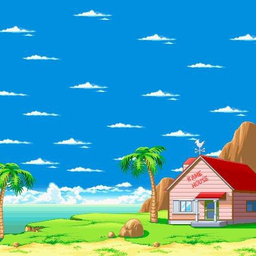 8-BIT   Dragon Ball   Décor   KAME HOUSE