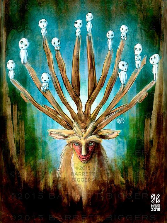 Princesse Mononoke - Le Dieu-Cerf