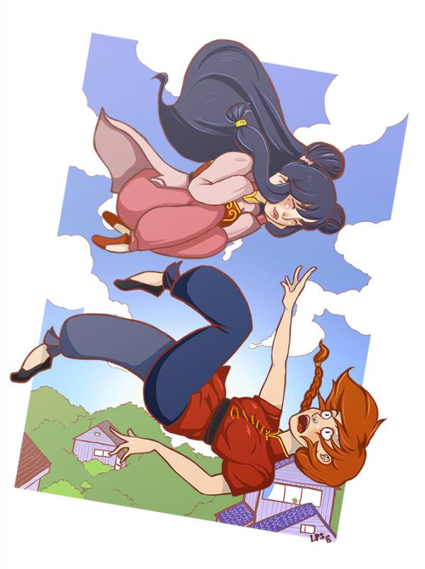 Combat de Fille ☯ Shampoo VS Ranma