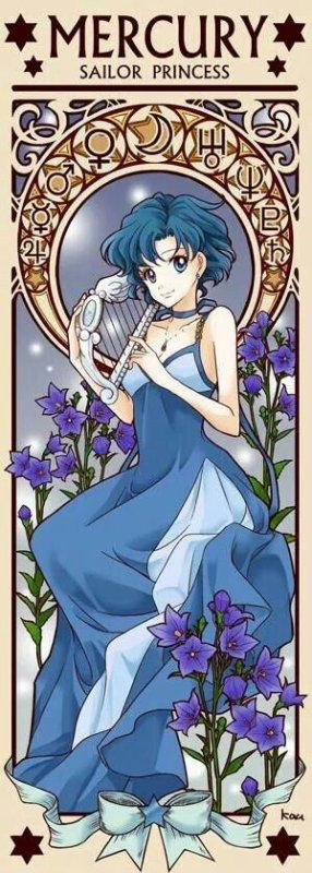Illustrations Princesses Sailor Moon Crystal | Mercury