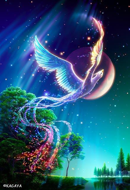 Le phoenix, si merveilleusement réalisé par Kagaya !