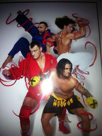Santino Marella, John Morrison, Vladimir Kozlow & CM Punk.