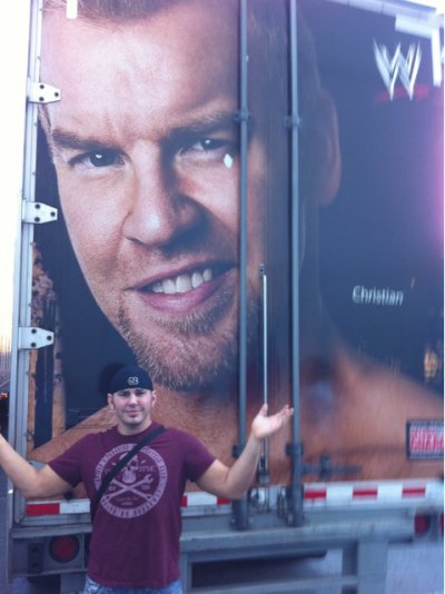 Matt Hardy et un camion... fan de Christian !