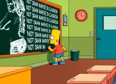 La punition de Bart Simpson. :3