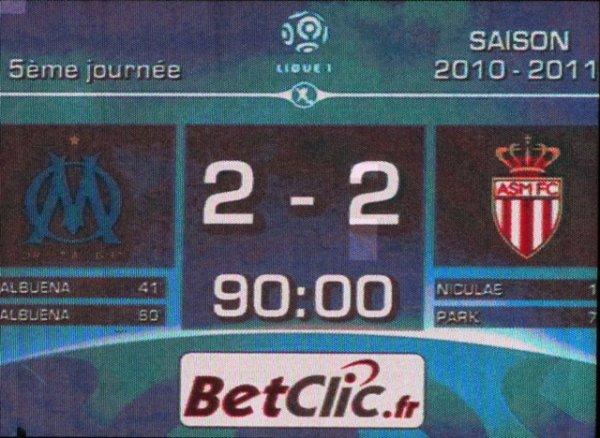 O.M - A.S Monaco : 2 - 2...