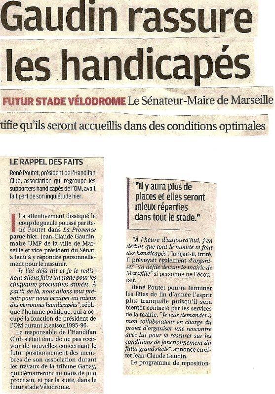 Réponse du Sénateur Maire de Marseille