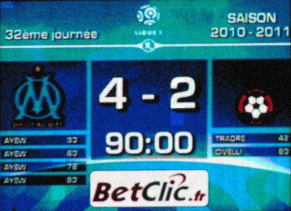 O.M-OGC Nice : 4-2...