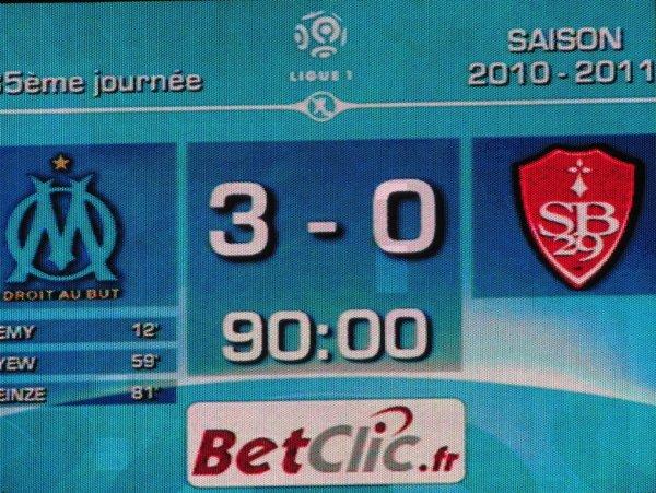 O.M-Brest : 3-0 ....