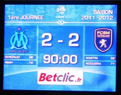 O.M - FC Sochaux : 2-2 ...