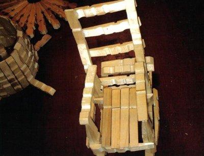 chaise a bascule fait en pinces a linge au prix de 5 blog de menuiserie3d. Black Bedroom Furniture Sets. Home Design Ideas
